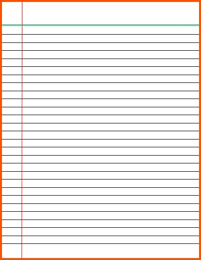 9+ lined paper template word | Survey Template Words