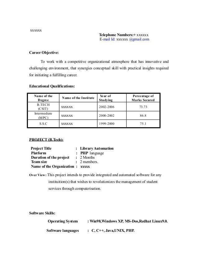 sample resume for freshers looking for the first job pdf. fresher ...