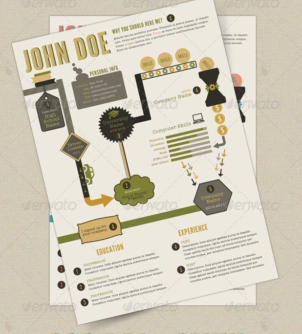 20 Creative Infographic Resume Templates | Web & Graphic Design ...