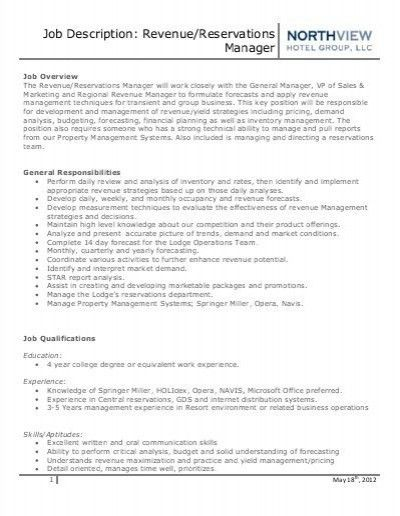Sample Product Manager Job Description. Regional Property Manager .