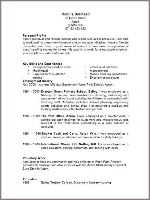 example resume uk cv examples uk and international by bradley cvs