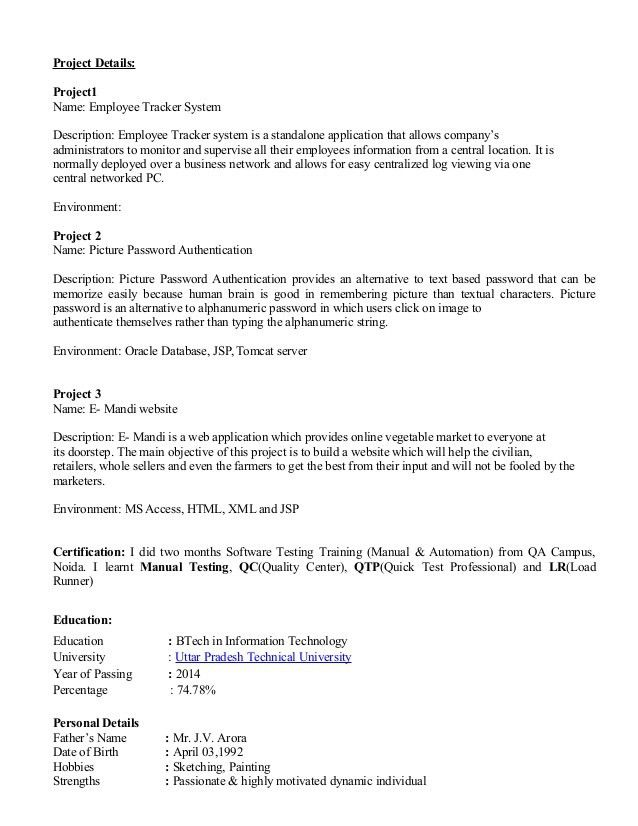 Resume Of Ritu Arora (1)
