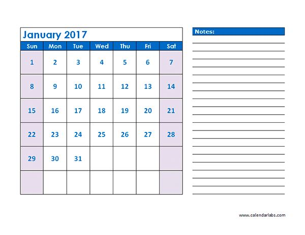 2017 Blank Schedule Template - Free Printable Templates