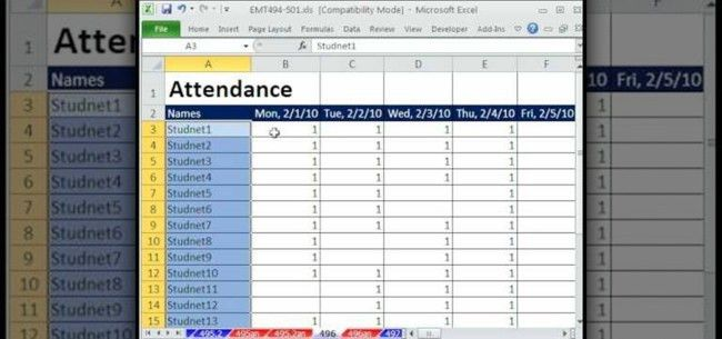 Inspiring Template Sample of Student Attendance Sheet in Excel for ...