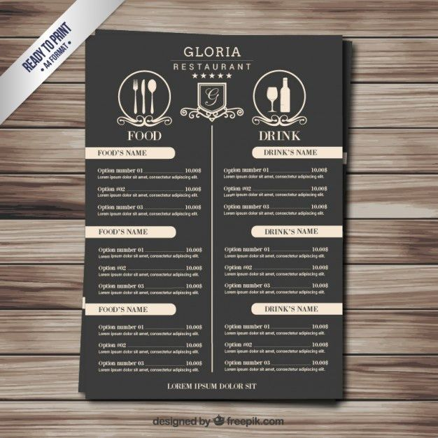 Retro menu Vector | Free Download
