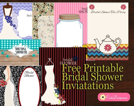 25+ Free Printable Bridal Shower Invitations