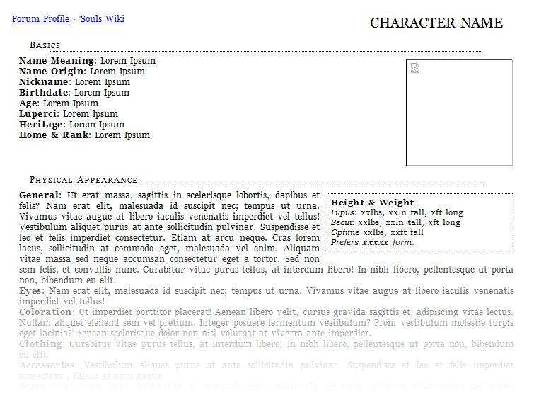 Character Profile Template. Character Profile Template. Character ...