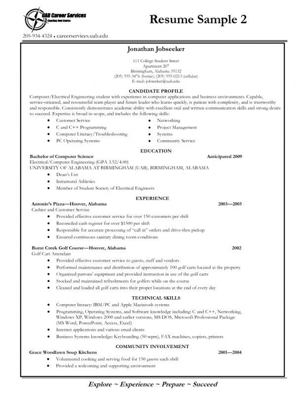 Writing A Resume College Freshman. college freshman resume samples ...