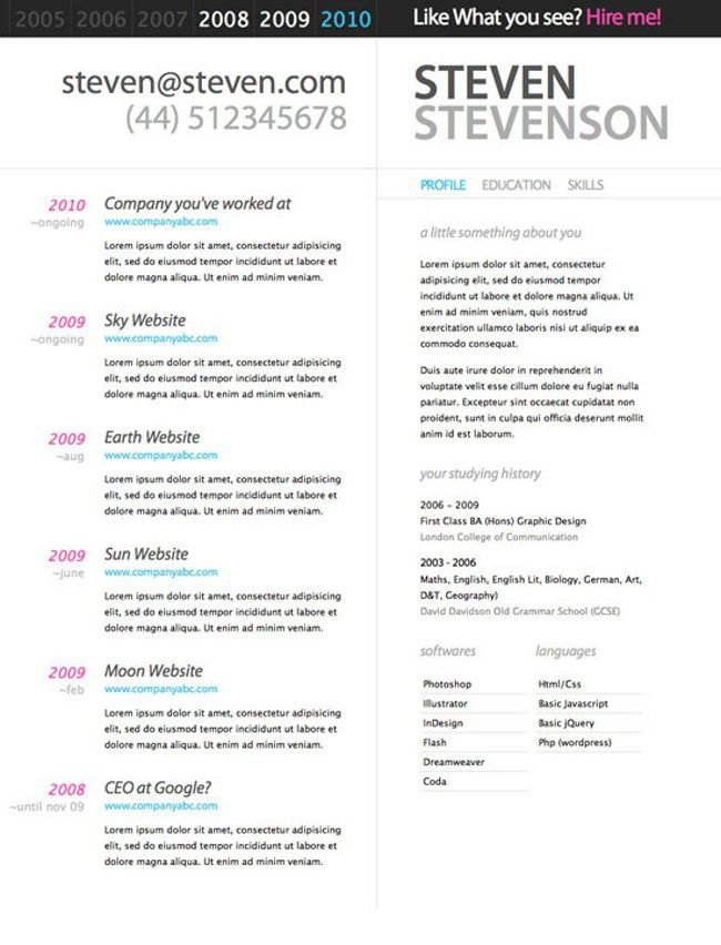 Resume Examples. Great 10 best free resume templates and downloads ...