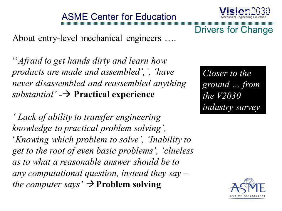 ASME Vision Creating the Future of Mechanical Engineering ...