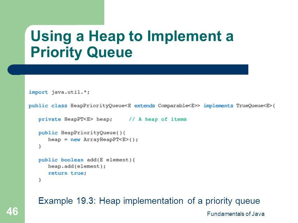 Chapter 19 Implementing Trees and Priority Queues Fundamentals of ...