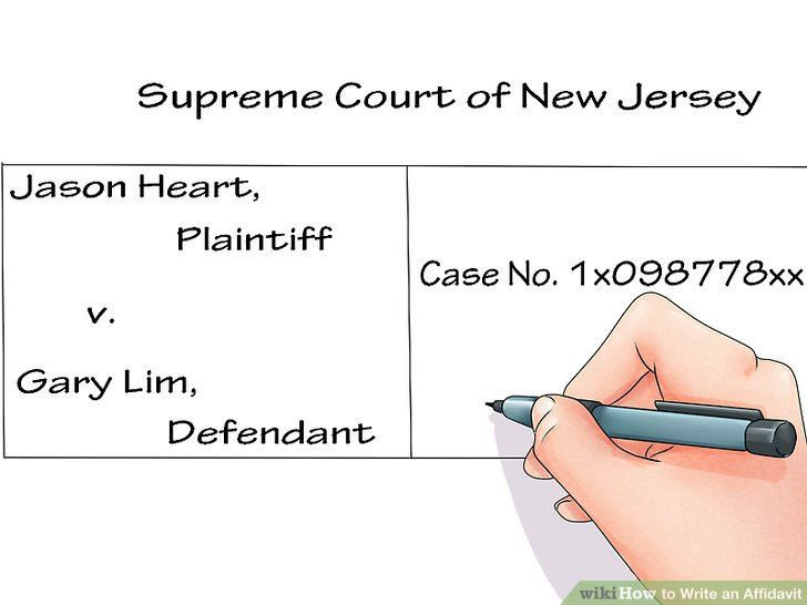 How to Write an Affidavit: 10 Steps (with Pictures) - wikiHow