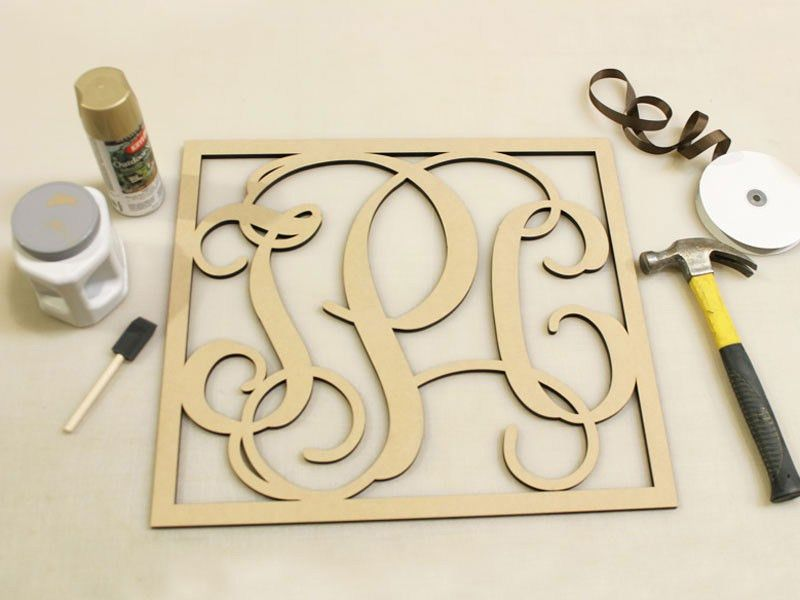 Outdoor Vine Monogram | Outdoor Wood Vine Letter - Craftctus.com