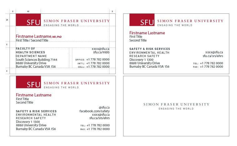 Business Cards - SFU Common Look and Feel - Simon Fraser University