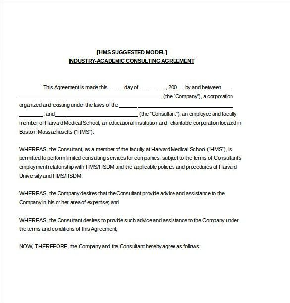 Consulting Agreement Template – 10+ Free Word, PDF Document ...