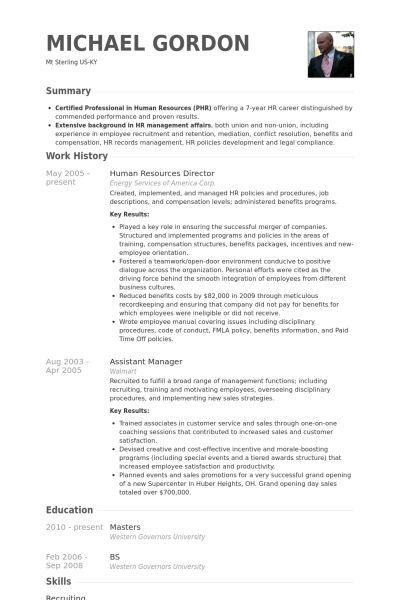 Personalvorstand CV Beispiel - VisualCV Lebenslauf Muster Datenbank