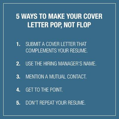 5 Ways to Make Your Cover Letter Pop, Not Flop | BioSpace