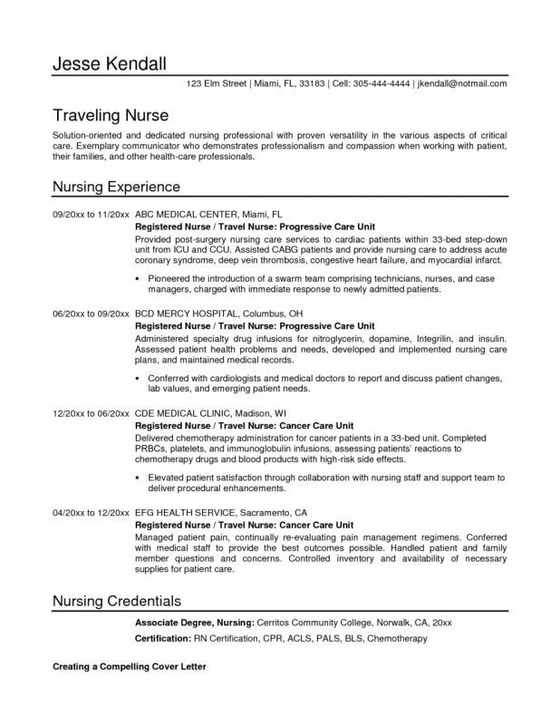 Iv Infusion Nurse Cover Letter