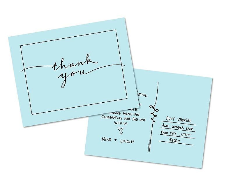 20 Free Printable Wedding Thank You Cards