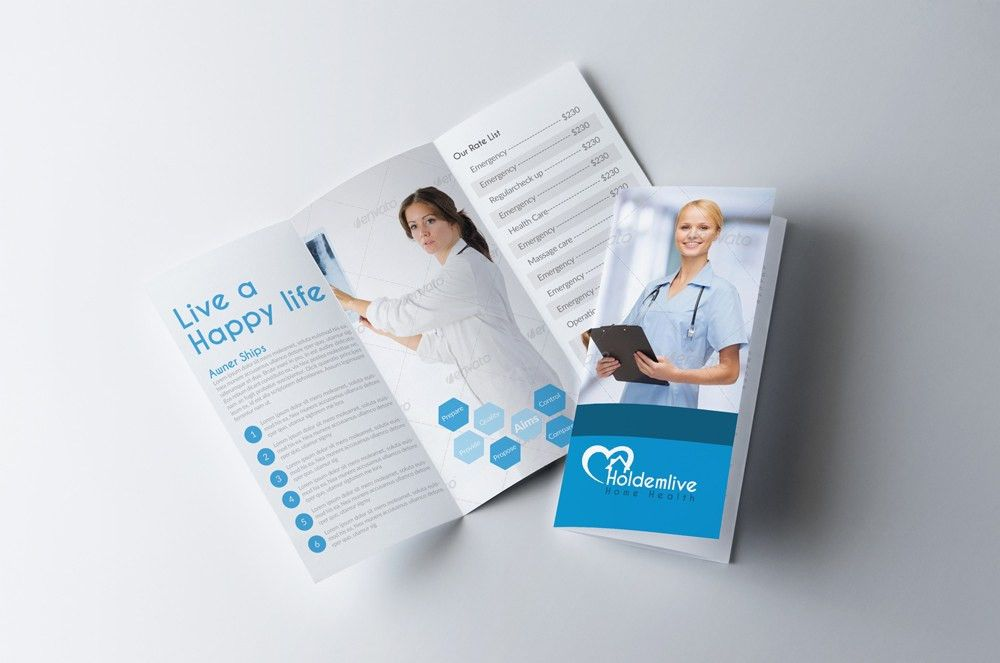 Tri Fold Medical Brochure Template | des' have industrial look ...