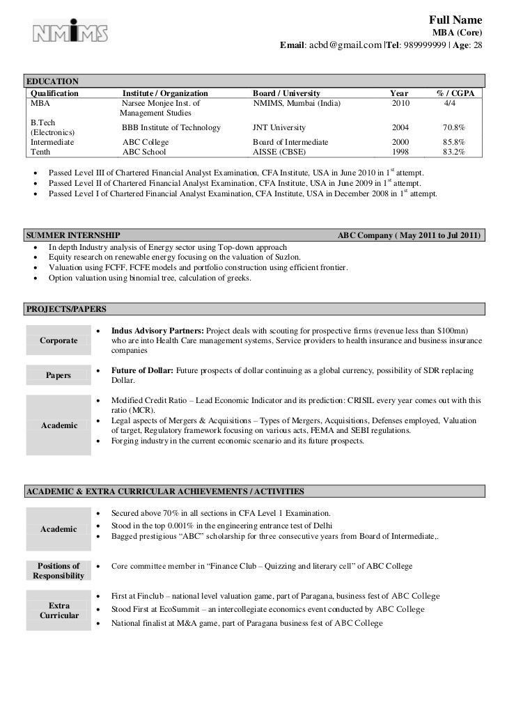 professional summary resume format word doc. chartered accountant ...