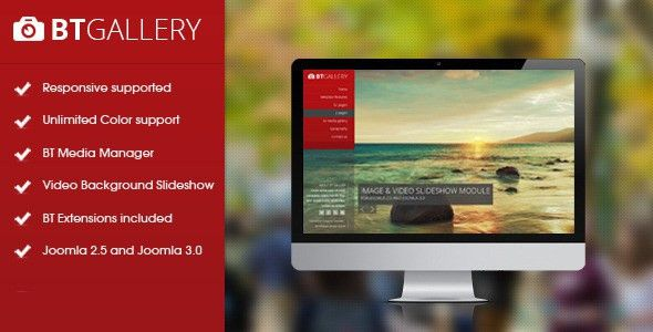 BT Gallery - Responsive template for Joomla by bowthemes | ThemeForest