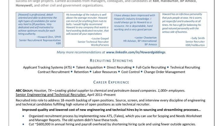recruiter resume sample entry level petro chemical executive ...