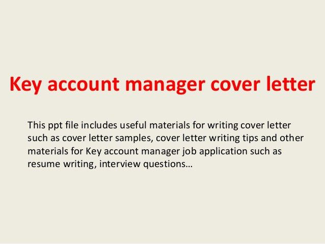 cover letter account manager - Etame.mibawa.co