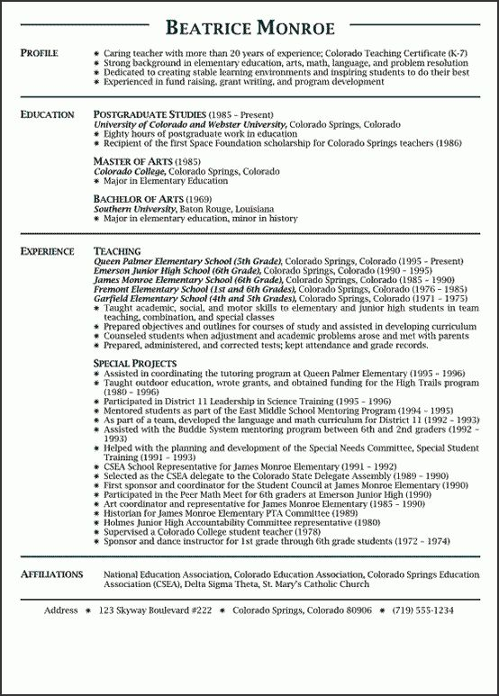 Preschool Teacher Resume Sample Free - http://www.resumecareer ...
