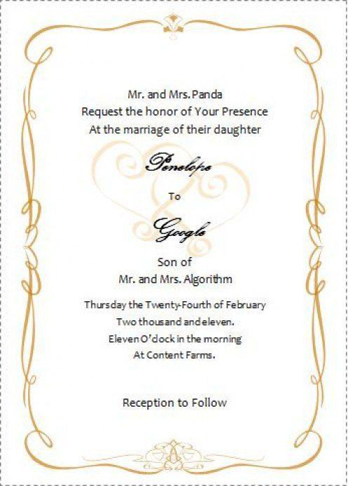 Wedding Invitation Templates Word – gangcraft.net