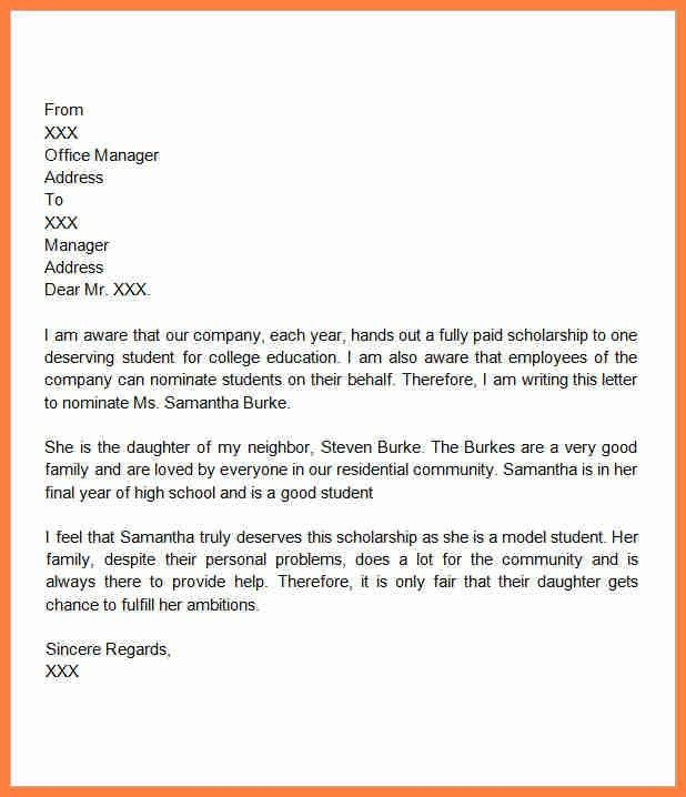 6+ recommendation letter for scholarship from friend | Life ...