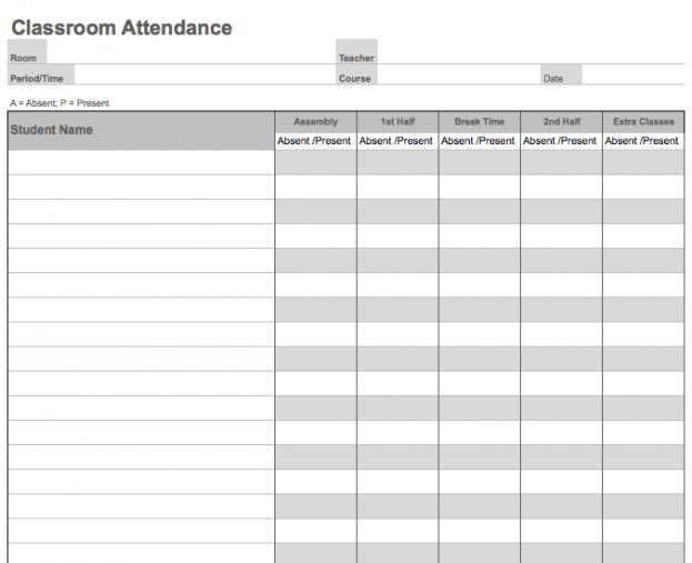 Daily Attendance Sheet : Selimtd