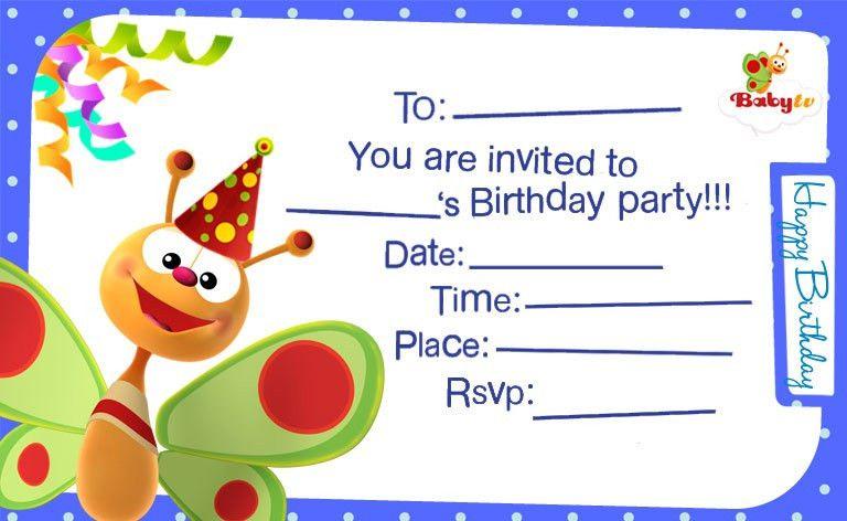 BabyTV - Birthday Invitations