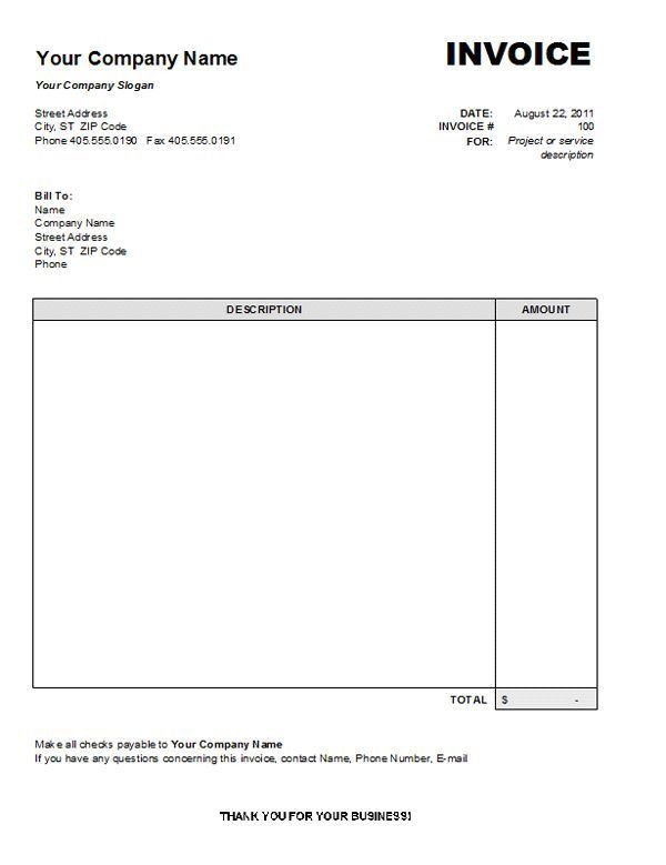 Personal Invoice Template Word | invoice sample template
