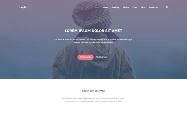 Landitt - Clean Landing Page Template | Bootstrap Landing Pages ...