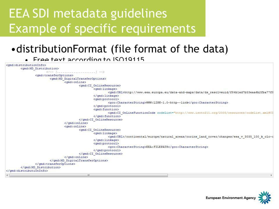 EEA metadata catalogue for GIS datasets - ppt download