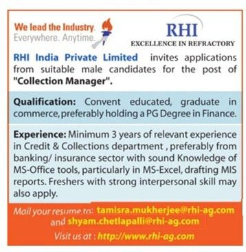 Job - Collection Manager - India - Office Administration ...