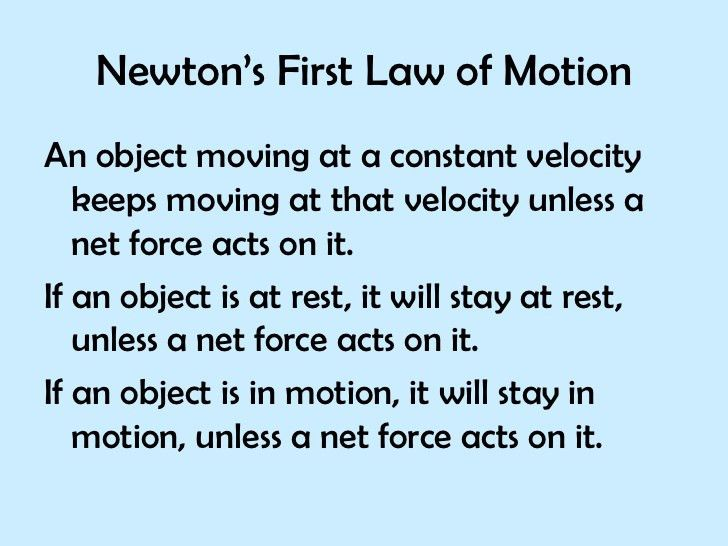 Ppt Newtons First Law