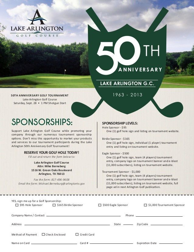 Registration Form_small | Golf outing ideas | Pinterest ...