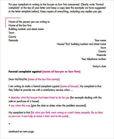 Formal Letter Example - 9+ Samples in Word, PDF