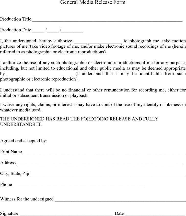 Financial Release Form. Liability Release Letter Yoga Liability ...