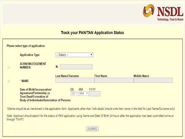 I have made payment for application of pan card but have not ...
