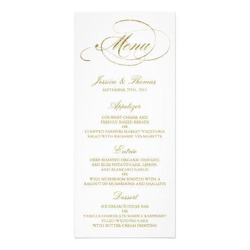 178 best wedding dinner menu images on Pinterest | Wedding dinner ...