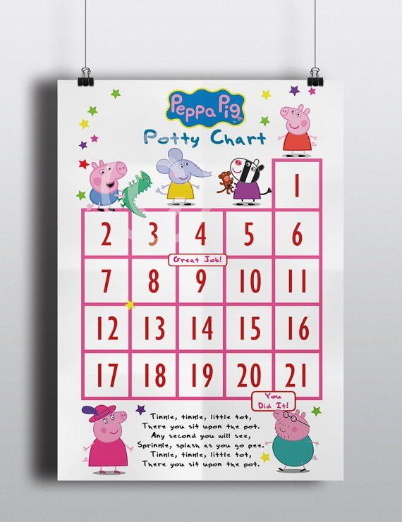 Peppa Pig Potty Training Chart / Potty Training Incentive