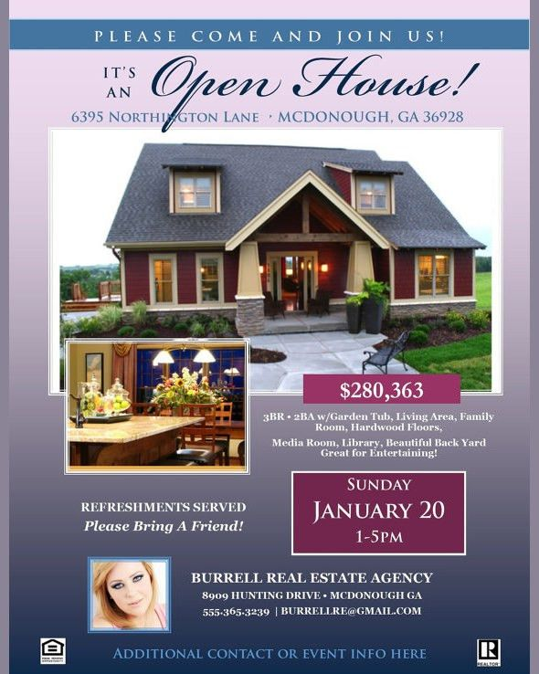 Open House Flyer Templates - Word Excel Samples
