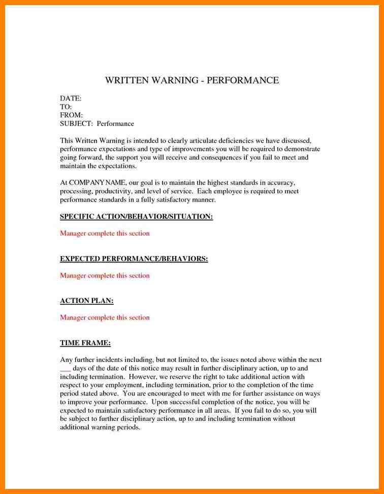 employee written warning template free