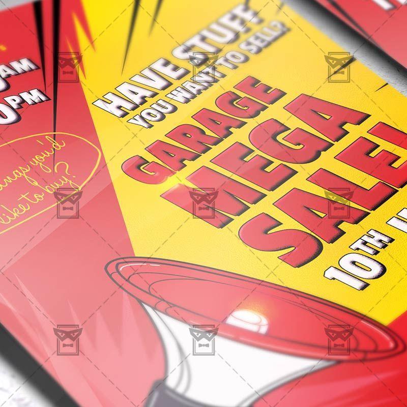 Garage Mega Sale – Premium Flyer Template + Instagram Size Flyer ...