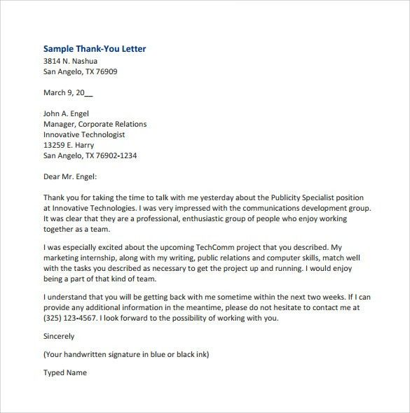 Sample Thank You for Your Business Letters – 7 Samples , Examples ...