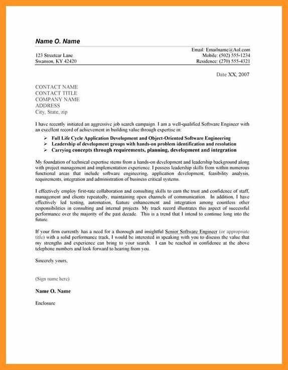 employment application cover letter | bio letter format