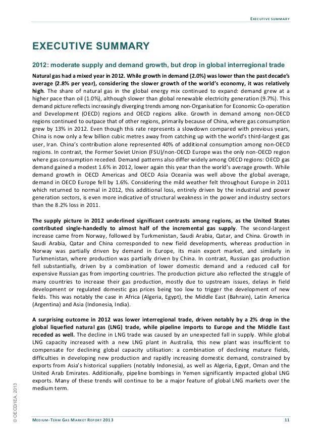 Executive Summary for Medium-Term Gas Market Report 2013